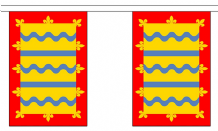 CAMBRIDGESHIRE (RED) BUNTING - 9 METRES 30 FLAGS )
